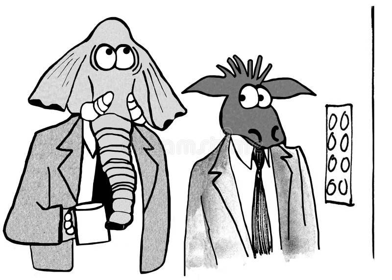 política ilustração do vetor