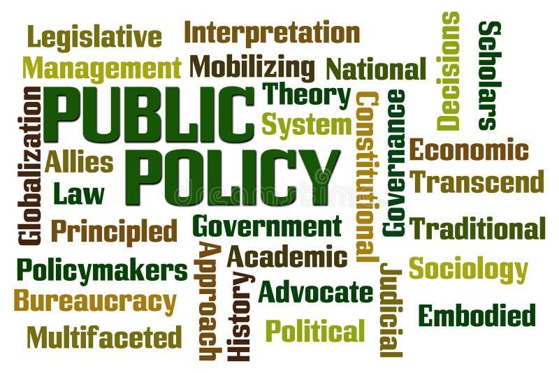 Política de interesse público ilustração stock