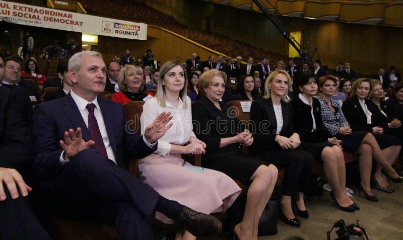 Política de Romênia - congresso de Partido Democratico Social imagens de stock royalty free