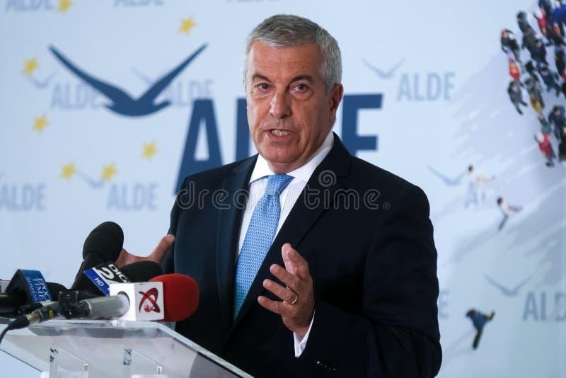 Política de Rumania - Calin Popescu Tariceanu - funcionamiento para la presidencia foto de archivo libre de regalías