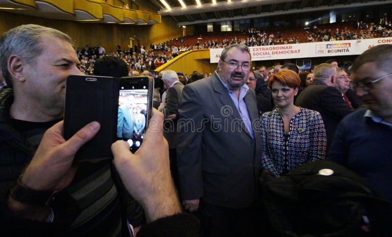 Política de Rumania - congreso de Partido Democrático Social fotografía de archivo libre de regalías