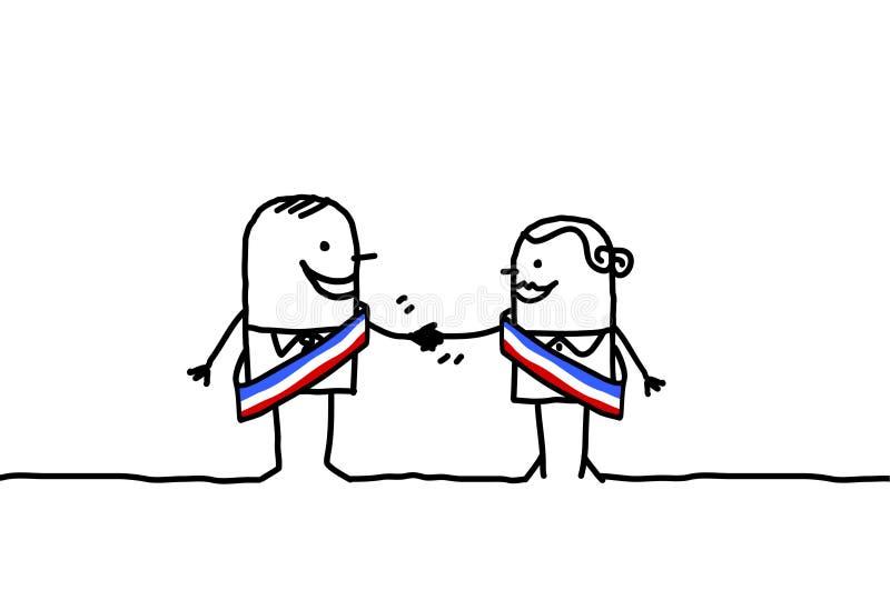 Política e paridade ilustração royalty free