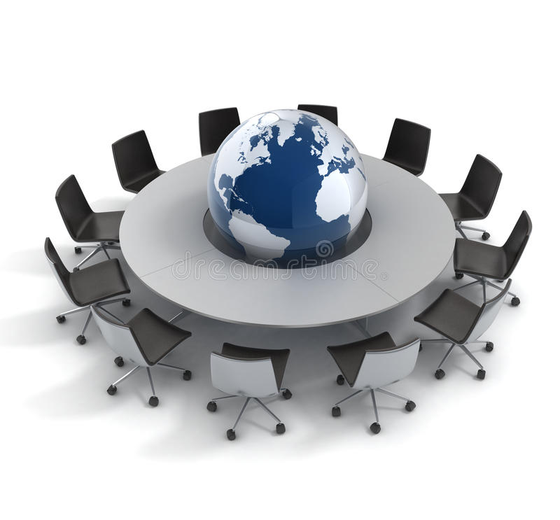 Política global, diplomacia, estratégia, ambiente, ilustração royalty free