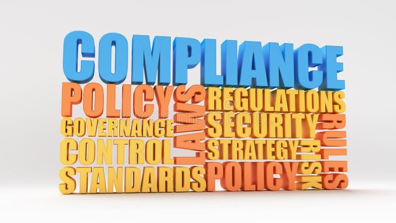 Política, leyes y conformidad stock de ilustración