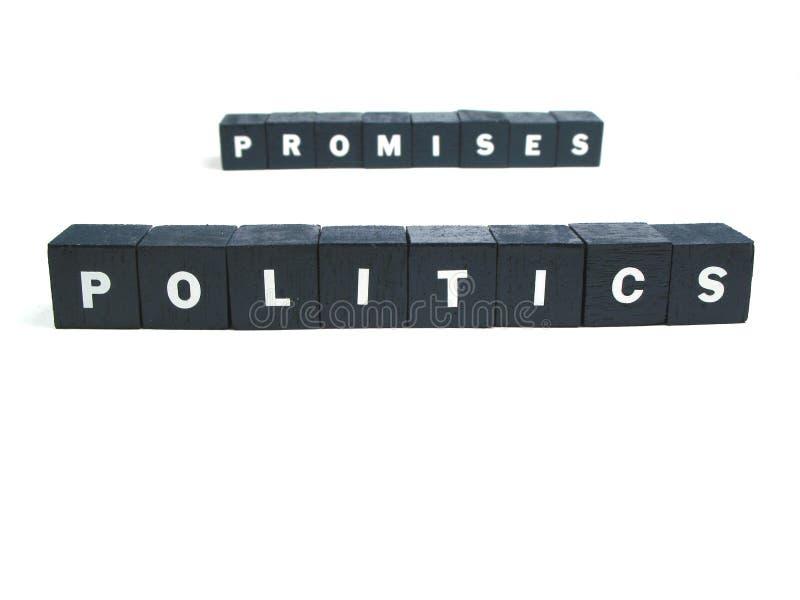 Política y promesas foto de archivo libre de regalías
