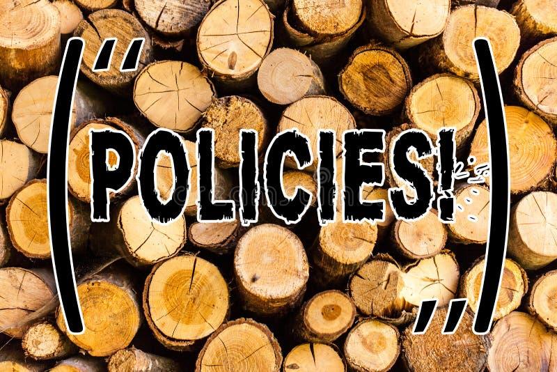 Políticas del texto de la escritura Concepto que significa el vintage de madera del fondo de los estándares de las regulaciones d fotos de archivo libres de regalías