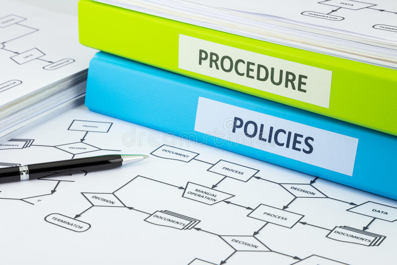 Políticas y documentos del procedimiento para el negocio imagen de archivo