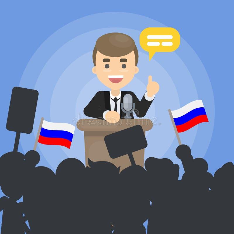 Político em debates ilustração stock