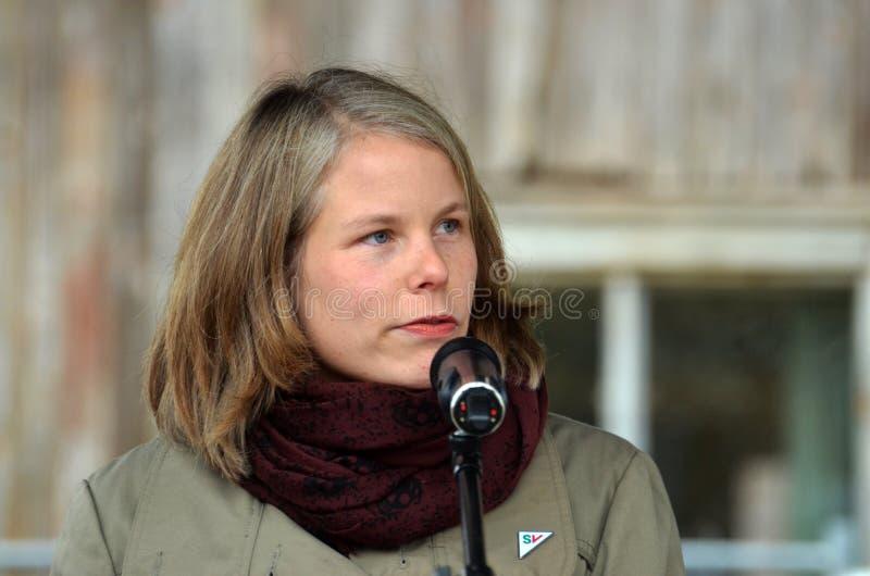 Político esquerdo socialista Kirsti Bergso do partido fotos de stock