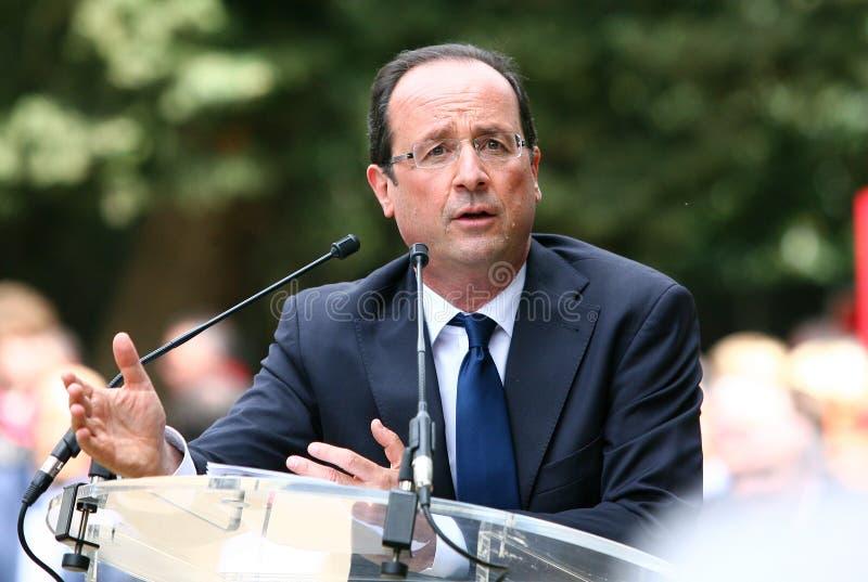 Político francés Francois Hollande fotos de archivo