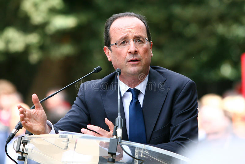 Político francês Francois Hollande fotos de stock