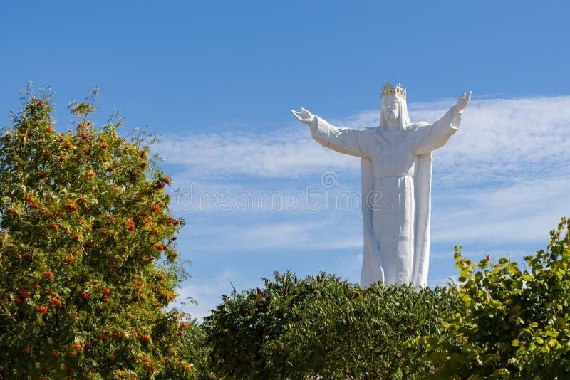 Polônia de Swiebodzin do monumento de Jesus Christ fotografia de stock