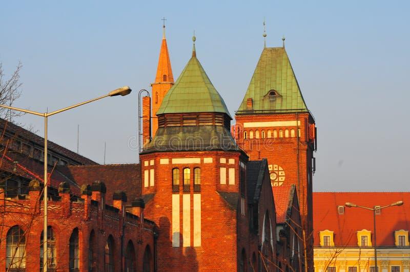 Polônia, Wroclaw, em agosto de 2018 cidade velha, mercado Salão, 'Hala Targowa ' fotografia de stock royalty free