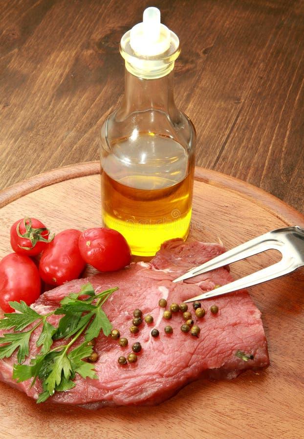 polędwicowy surowy stek zdjęcia stock