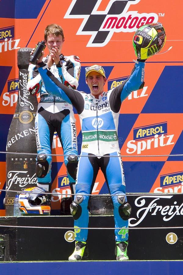 Pol Espargaro dans le podium photo stock