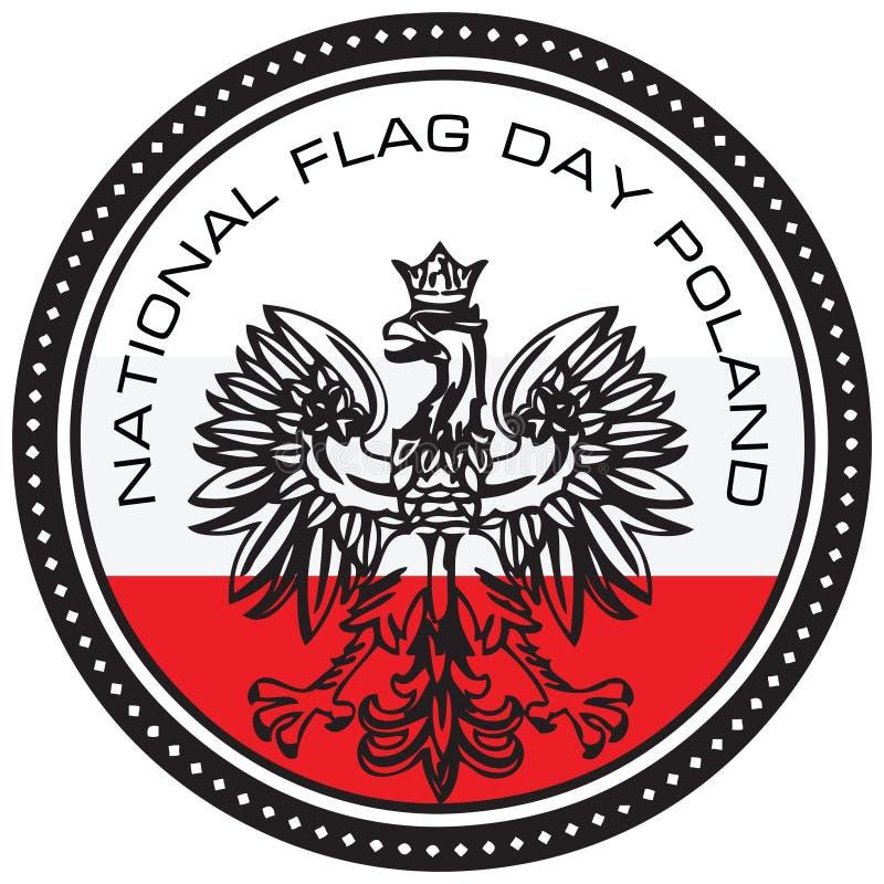 Polônia do dia de bandeira nacional ilustração do vetor