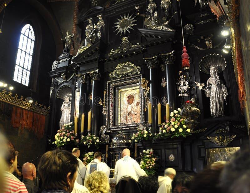 Polônia, preto Madonna de agosto 20,2014-Monastery de Czestochowa no Polônia imagem de stock royalty free