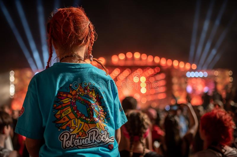 Pol`and`Rock Festival stock photography
