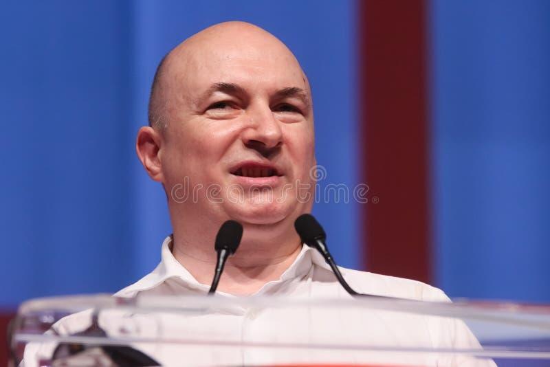 Pol?tica de Rumania - congreso de Partido Democr?tico Social foto de archivo libre de regalías