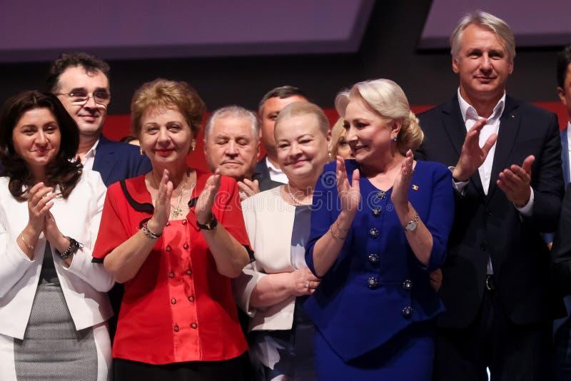 Pol?tica de Rumania - congreso de Partido Democr?tico Social imagen de archivo libre de regalías
