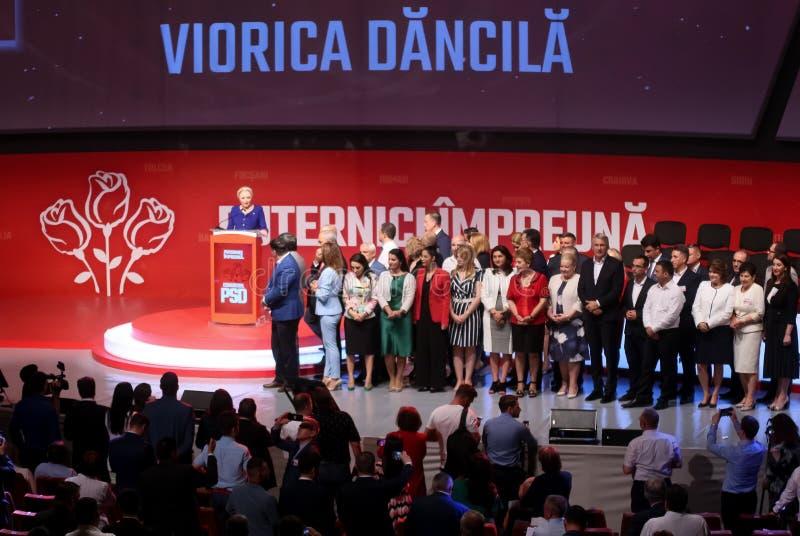 Pol?tica de Rumania - congreso de Partido Democr?tico Social fotografía de archivo libre de regalías