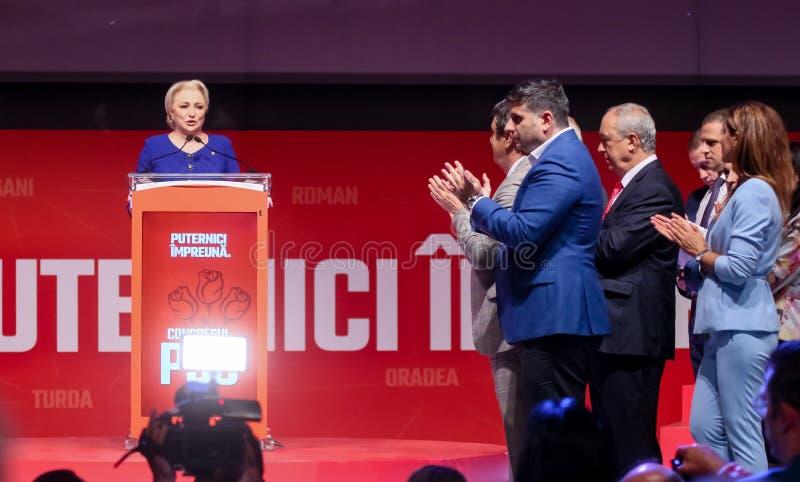 Pol?tica de Rumania - congreso de Partido Democr?tico Social imagen de archivo