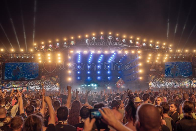 Pol-` und ` Rockfestival lizenzfreie stockfotografie