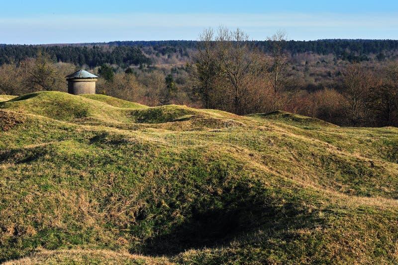 pola bitwy pierwszy Verdun wojenny świat zdjęcia royalty free