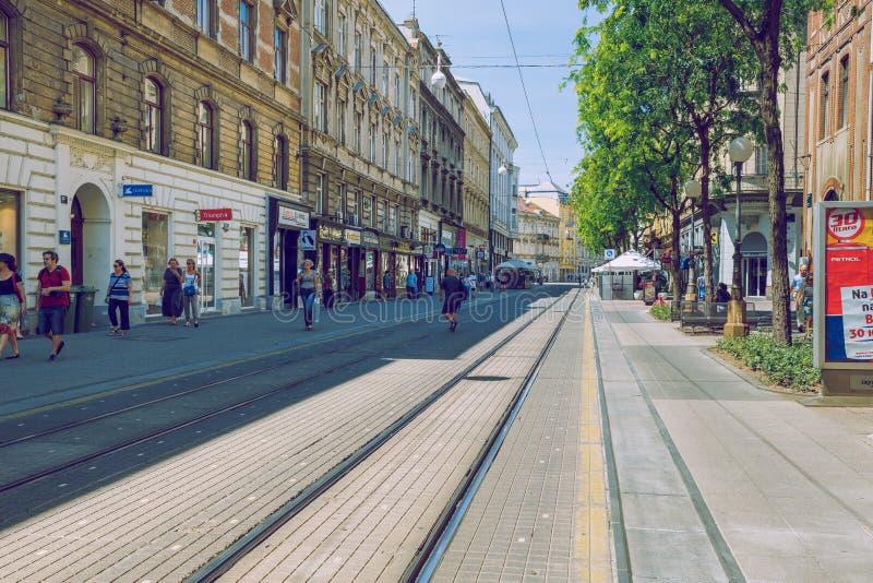 Pola, Crotia, 2016, vista della via Vecchia città ` s una foto di viaggio fotografia stock