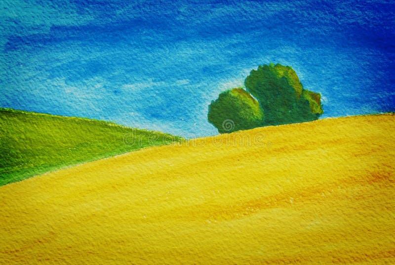 pola kształtują teren wiejskiej natury banatki ilustracji