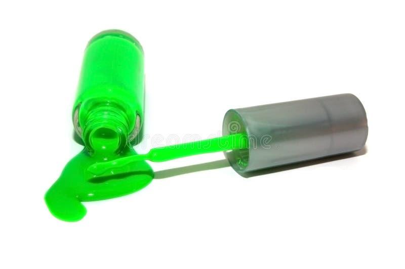 Polacco di chiodo verde al neon rovesciato fotografie stock