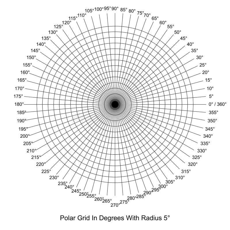 Polair Net in Gradenvector royalty-vrije illustratie