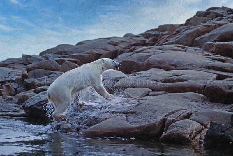 Polaire beer komt van zee, fotokunst royalty-vrije stock foto's