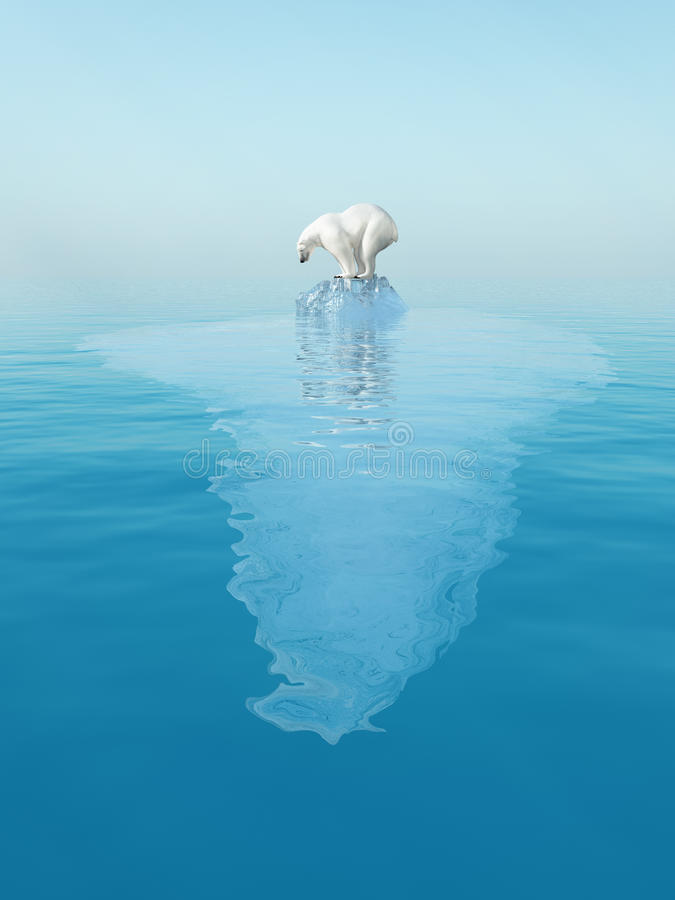 Polaire concernez l'iceberg illustration de vecteur
