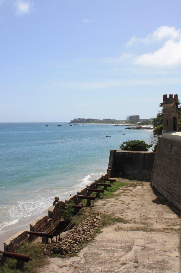 Polamar castle in isla Margarita Venezuela. On a beautiful sunny day royalty free stock photography