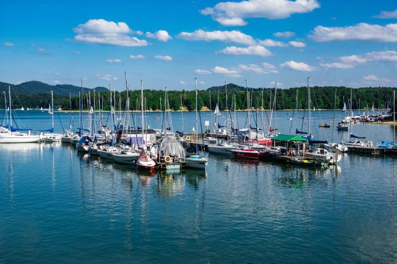 Polanczyk-Jachthafen lizenzfreies stockfoto