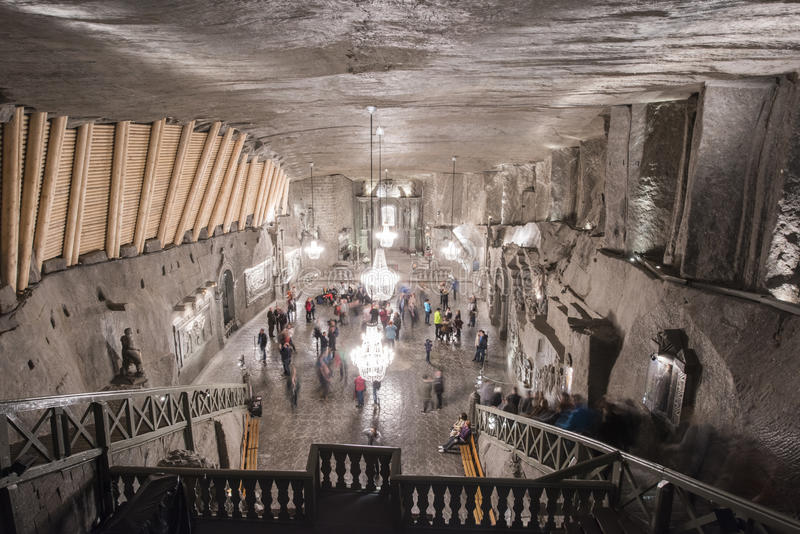 Poland's Ondergrondse Zoute Kathedraal royalty-vrije stock afbeeldingen