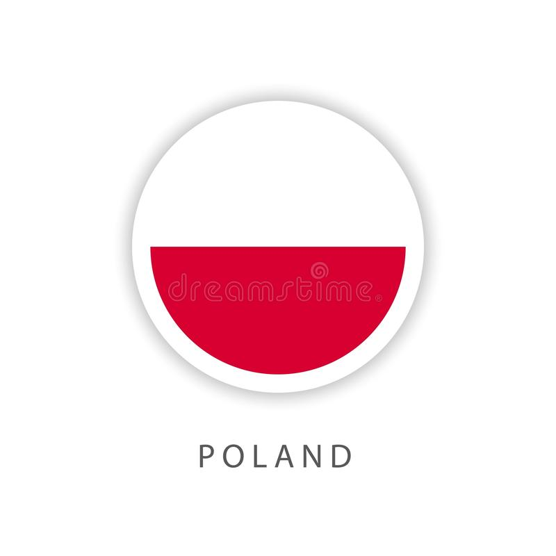 Poland Button Flag Vector Template Design Illustrator royalty free illustration