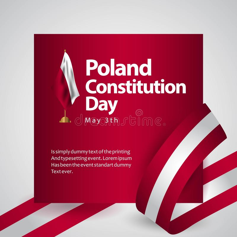 Free Poland Constitution Day Flag Vector Template Design Illustration Royalty Free Stock Photo - 141816635