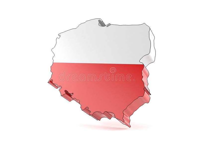 Poland country. Isolated on white background vector illustration