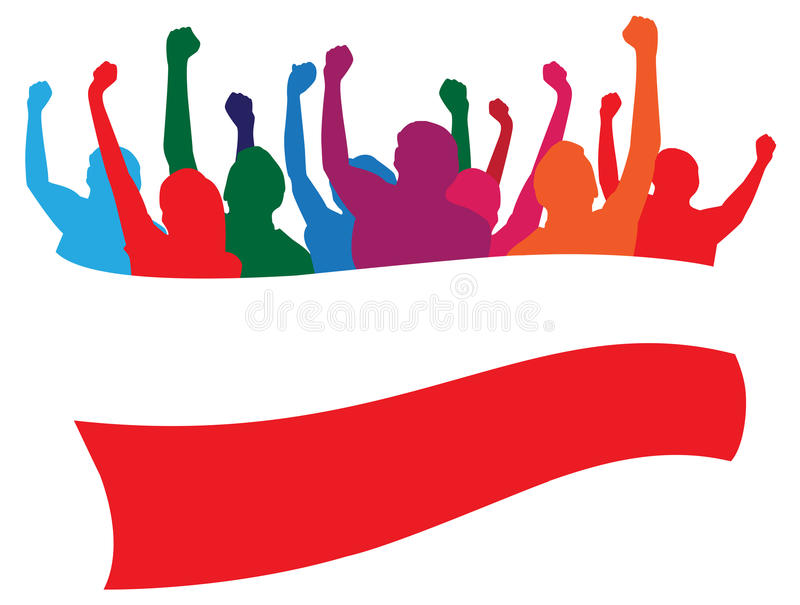 Download Poland fans illustration stock vector. Image of cheering - 25344563