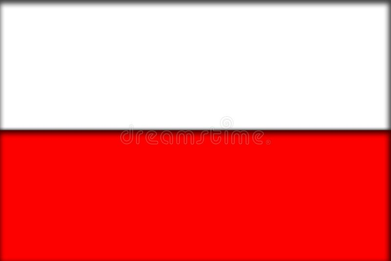 Poland flag royalty free illustration