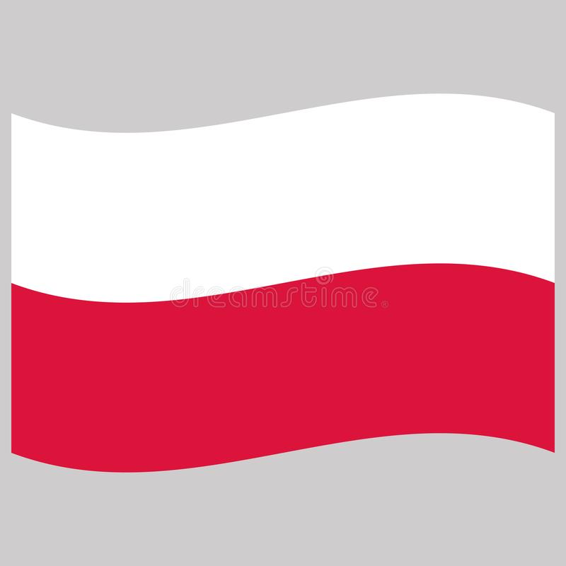 Poland flag on gray background vector illustration royalty free illustration