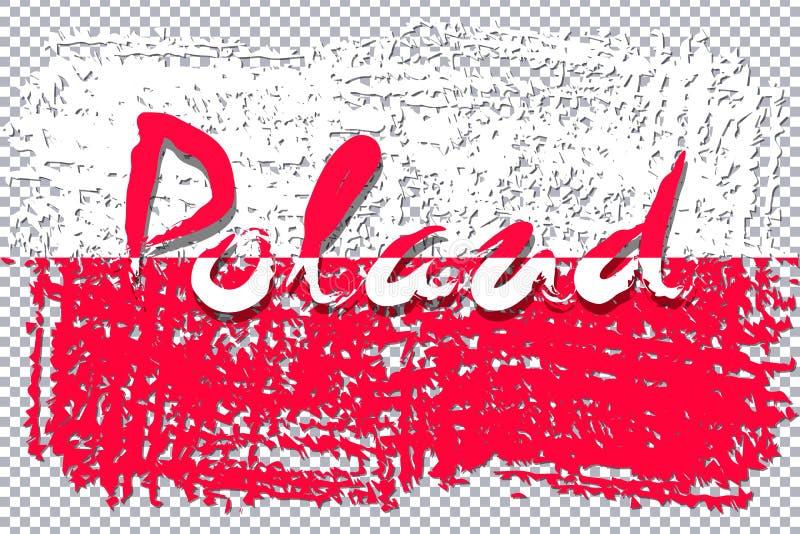 Poland flag grunge style stock illustration
