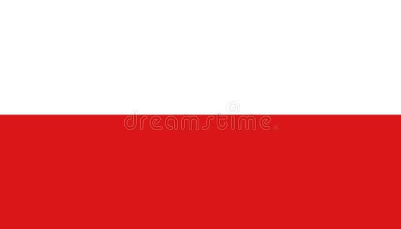 Poland flag icon in flat style. National sign vector illustration. Politic business concept vector illustration