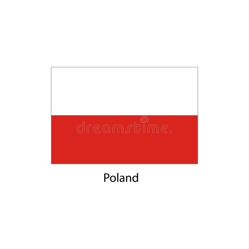 Poland Flag. Official colors and proportion correctly. National Flag of Poland. Poland Flag vector illustration. vector illustration