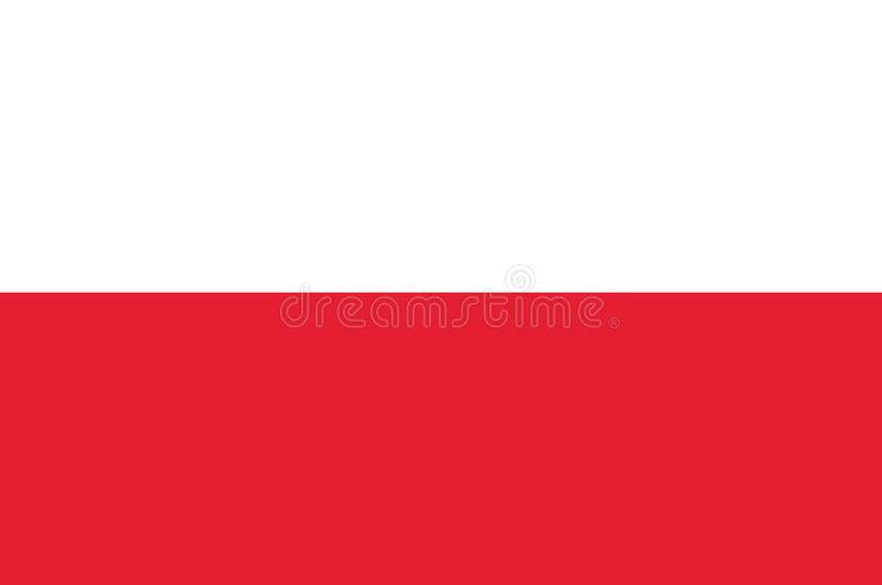 Poland flag, official colors and proportion correctly. National Poland flag. vector illustration