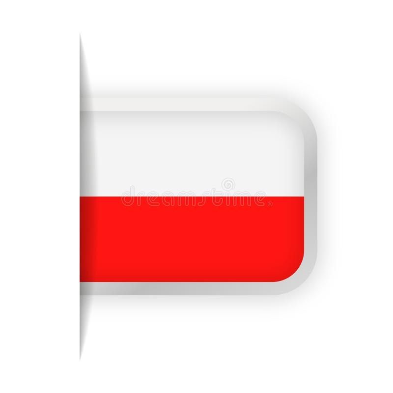 Poland Flag Vector Bookmark Icon royalty free illustration