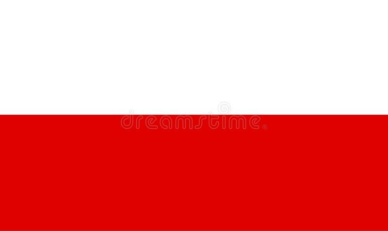 Poland flag vector.Illustration of Poland flag. Background royalty free illustration