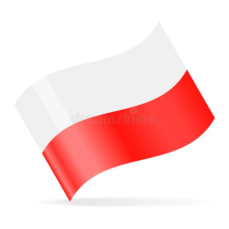 Poland Flag Vector Waving Icon royalty free illustration